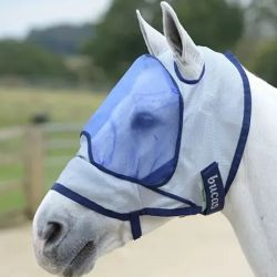 Masque cheval sans oreille anti mouche et anti UV Deluxe Bucas