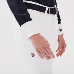 Jamia Gaze Pantalon d'équitation femme blanc - Mon Cheval