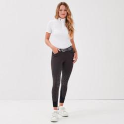 Jamia Gaze Pantalon d'équitation femme gris - Mon Cheval