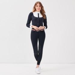 Jamia Gaze Pantalon d'équitation femme marine - Mon Cheval
