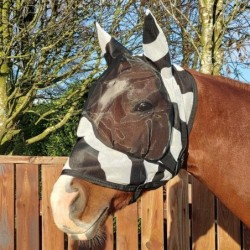 Masque anti-mouches cheval BUZZ-OFF ZEBRA Bucas