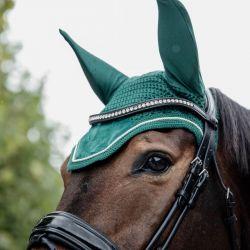 Fly Veil Wellington Velvet bonnet anti-mouches en velours chevaux Kentucky