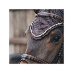 Fly Veil Wellington Stone & Pearl Soundless bonnet anti-mouches chevaux Kentucky