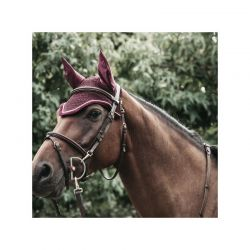 Fly Veil Wellington Corduroy Soundless bonnet anti-mouches chevaux Kentucky