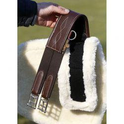 Sheepskin Stud Girth Cover mouton amovible pour sangle bavette chevaux Kentucky