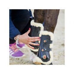 Sheepskin Tendon Boots Elastic guêtres mouton avec élastiques chevaux Kentucky