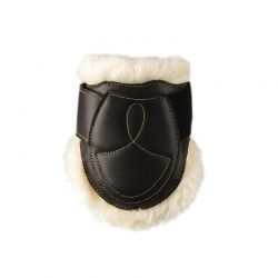 Sheepskin Leather Fetlock Boots protège-boulets en similicuir et mouton chevaux Kentucky