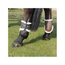 Sheepskin Fetlock Boots Elastic protège-boulets en mouton avec crochets chevaux Kentucky