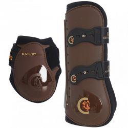 Tendon Boots Elastic / Young Horse Fetlock Boots lot guêtres et protège-boulets avec crochets élastiques jeunes chevaux Kentucky
