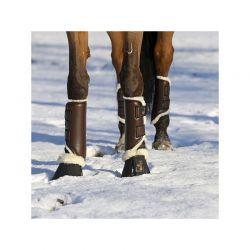 Turnout Boots Leather Front guêtres antérieures en similicuir et mouton chevaux Kentucky