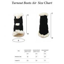 Turnout Boots Air guêtres antérieures chevaux Kentucky
