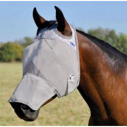 Masque anti-mouche anti-UV intégral sans oreilles Crusader cheval Cashel