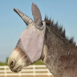 Masque anti-mouche anti-UV avec oreilles pour âne Crusader Cashel