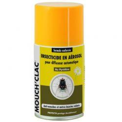 Recharge aérosol pour diffuseur d'insecticide télécommandé Mouch'Clac