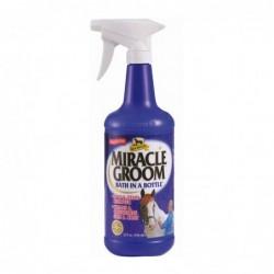 Spray Miracle groom...