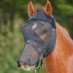 Masque Cheval Prémium anti-UV et anti-mouches intégral sans oreilles Waldhausen